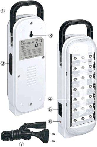 DP - Lámpara portatil LED recargable 21 ledes