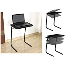 Gadget-Wagon Table Mate Stroing and Sturdy for Studies, Laptop, Patient Dining, Foldable, Multi Purpose (Black)