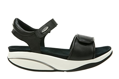 MBT Kiburi 5 W, Sandalia con Pulsera Para Mujer, Negro (Black Nubuck 03U), 36 EU amazon-shoes