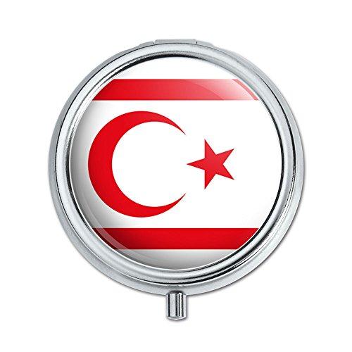 Die türkische Republik Nordzypern National Land Flagge Pille Fall Schmuckkästchen Geschenk-Box (Gehäuse-deckel Aufklappbaren)