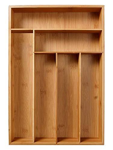 Bambus Schublade Organizer Holz Utensil Besteck Küche Schublade Box Halter Besteck Utensil
