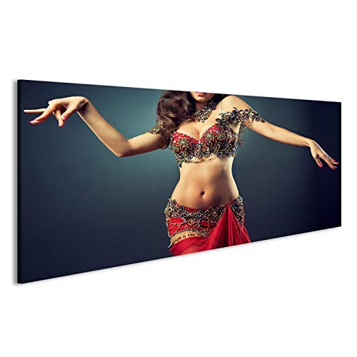 bilderfelix® Bild auf Acrylglas, hochglanzpoliert, Tanzen Mädchen in der Karneval Kostüm. Ausdrucksvolle Bewegung des Tanzes Wandbild, Poster, Glasbild, sehr edel GEV