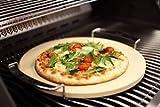 Gartenwelt Riegelsberger Premium Pizzastein inkl. Edelstahl-Gestell Backstein Pizza Flammkuchen Steinofen rund Ø 33x1,5 cm