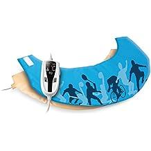 Daga NC Sport - Almohadilla eléctrica cervical, 40 x 15 cm, 90 W, 4 niveles de temperatura