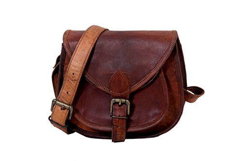 - 41ipg60KsDL - Handmade Genuine Leather Women Satchel Purse Handbag, Rustic Vintage Leather Indiana Jones Satchel Purse