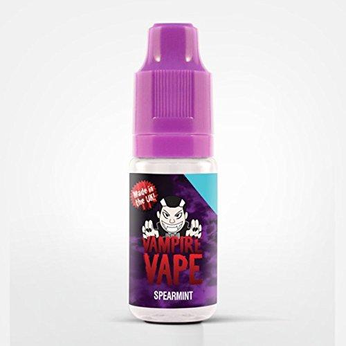 Vampire Vape E-Liquids-heiß begehrt-verschiedene exklusive Geschmackssorten-10ml-gute Dampfentwicklung-für E-Zigarette/E-Shisha-0mg Nikotin (Spearmint- süßer Minze-Kaugummi) -