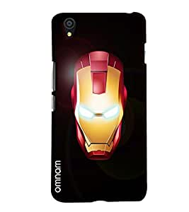 Omnam Ironman Face printed with eye effect for One Plus X