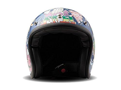 DMD Casco Moto, Unisex, Multicolore, S