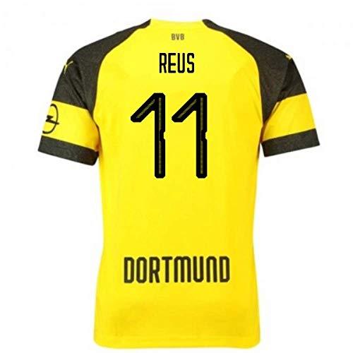 2018-2019 Borussia Dortmund Puma Home Football Soccer T-Shirt Camiseta (Marco Reus 11)