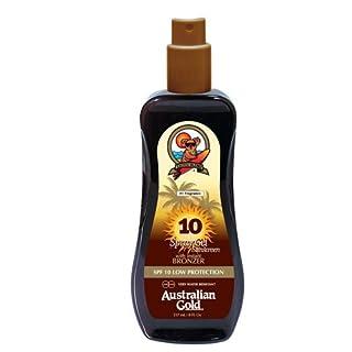Australian Gold SPF 10 Spray Gel plus Bronzer, 1er Pack (1 x 237 ml)