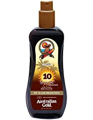 Australian Gold SPF 10 Spray Gel plus Bronzer, 1er Pack (1 x 237 ml)
