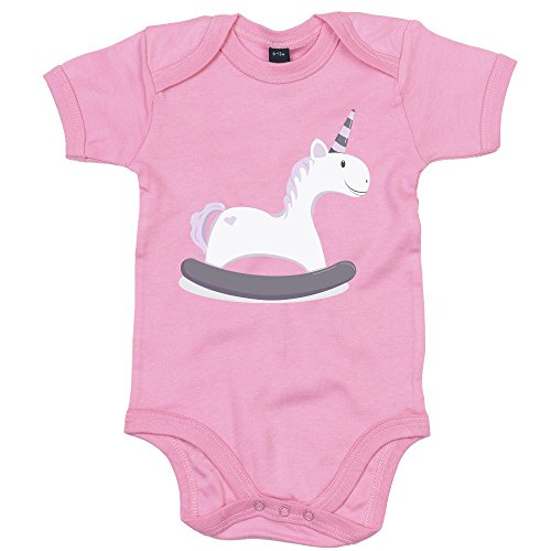 Licorne-Cheval--Bascule-Baby-Body-Infant-Unisex-Body-Bb-Manches-Courtes-Filles-Et-Garons-OEKO-TEX--100-Standard