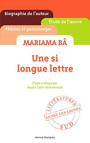Une si longue lettre de Mariama B