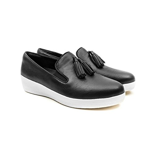 FitFlop Tassel Superskate Tm, Scarpe Low-Top Donna Nero