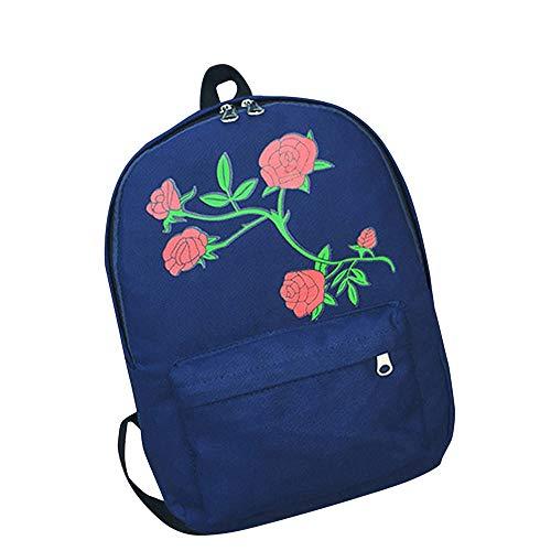 Damenhandtaschen,Frauen Floral Rose Print Rucksack Mit Großer Kapazität Jugendliche Schultasche Rucksack Reisen Umhängetasche Mädchen Frauen - Print Große Shopper-handtasche