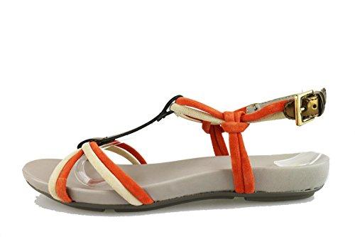 SAMSONITE sandali donna 36 EU beige camoscio corallo AG619