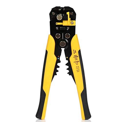 Pinza Spelafili MWS02 Spelafili Automatico 3 in 1 per Spelatura Con Cutter Autoregolante AWG24-10(0.2~6.0mm²) Cable Stripper Cutters Crimper Stranded Wire Cutting