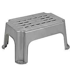 Gradino grigio, alto 23 cm, testato fino a max 150 kg, ideale per roulotte e camper.