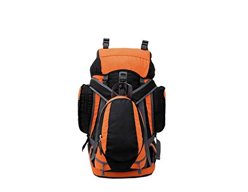 Sacchetto Di Alpinismo Di Xin.S55L Sacchetto Di Spalla Zaino All'aperto Di Grande Capacità Sacchetto Di Campeggio Camminata Viaggio Zaino Multifunzionale. Multicolore Orange