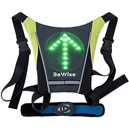 Gilet con Indicatori di Direzione a LED Lampeggiante per Ciclismo Frecce Super Luminosi Bretelle Regolabili Telecomando…