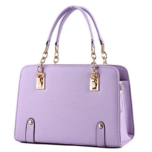 Modelli Estivi Ms. Borse Marea Catena Tracolla Moda Femminile Bag Messenger Purple