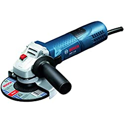 Bosch GWS 7-125 Professional - Amoladora angular, disco 125 mm, 1100 rpm, 720 W, color negro y azul