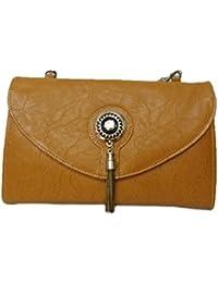 Women's Leather Sling Bag (Brown) - B078NYQQ26