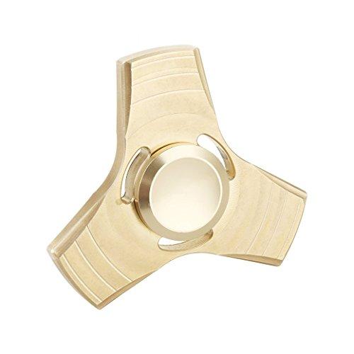 Spinner Mano AllDo Fidget Hand Spinner in Metallo Alta Velocità 1-3 Minuti Cuscinetto in Acciaio Inossidabile Giocattolo di Spinner Finger - Perfetto per ADD / ADHD / Ansia / Autismo e Alleviare lo Stress per i Bambini Adulti, Gadget per Ufficio - Dorato
