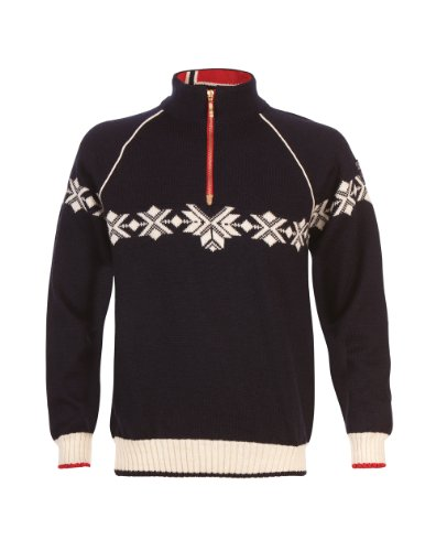 Dale Of Norway Wollpullover (Dale of Norway Herren Pullover Sochi Navy/Off White/Raspberry, XL)