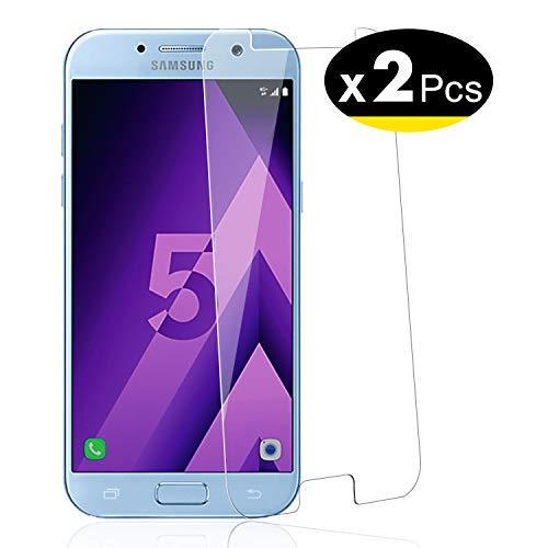 NEW'C 2 Unidades, Protector de Pantalla para Samsung Galaxy A5 2017 (SM-A520F), Vidrio Cristal Templado