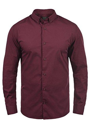 PRODUKT Pellegrino Herren Hemd Business Langarm-Hemd mit Button-Down-Kragen Aus 100% Baumwolle Port Royal