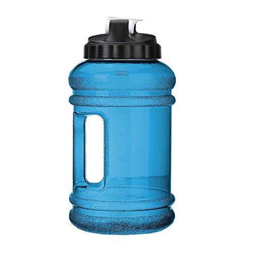 (Sedensy Wasser Flasche 2,2Liter, Extra Großer Krug BPA-Frei Auslaufsicher Tank Container Flasche mit Drink Gap und Tragegriff, Blau)
