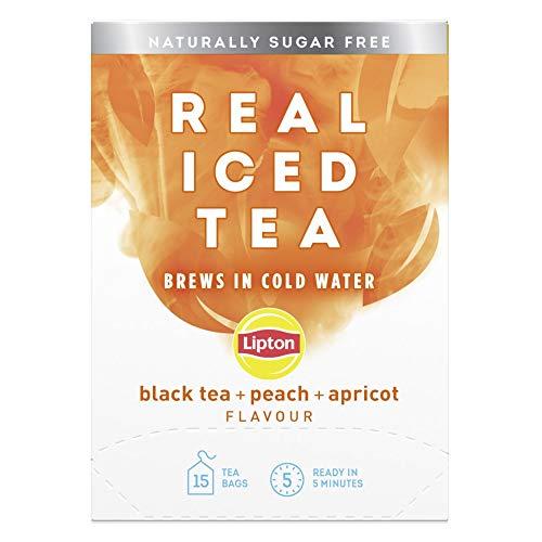 Lipton Real Iced Tea Black Tea Peach & Apricot Iced Tea 15 Tea Bags