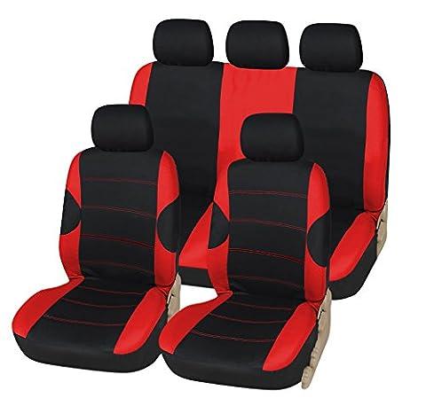 FORD C-MAX tous les ans de luxe Housse de siège noir et rouge Sport