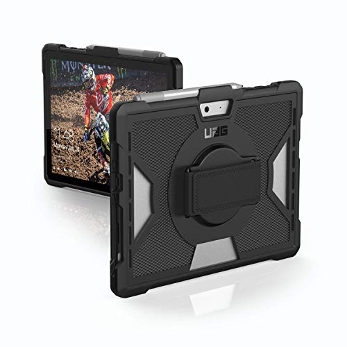 Urban Armor Gear UAG Outback Schutzhülle nach US-Militärstandard für Microsoft Surface Go [360° Handschlaufe, Stylus-Halter, Verstärkte Ecken, Sturzfest] - 321075B14040 Stylus-halter