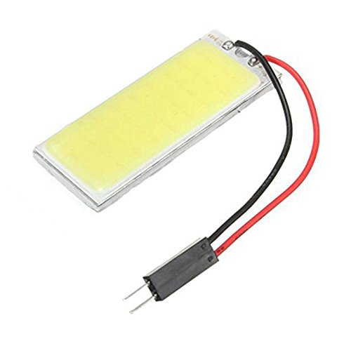 Cikuso Panneau T10 36 SMD COB LED Voiture Ampoule Lecture/Plafonnier Lampe Blanc Pur + T10/BA9S/Dome Festoon Adaptateurs