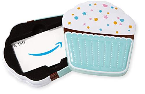 Amazon.de Geschenkkarte in Geschenkbox - 150 EUR (Muffin)