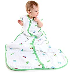 Slumbersac - Saco infantil para dormir, de muselina, aproximadamente0,5Tog–Coches–12-36meses/110cm