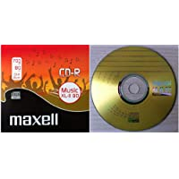 Maxell CD-R MUSIC CD (XL-11 80 Music) - 80 minute Blank Music CD includes Plastic Jewel CD case (Compact Disc Digital Audio Recordable) - Compatible with Steepletone Edinburgh, SMC595 & SMC922 + TEAC LPR400 & LP-R500 + Inovalley Retro Music Centres - Pack of 1
