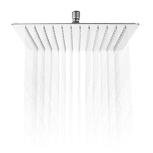 30,5cm Regen Dusche Kopf quadratische Form Edelstahl Rainfall Spray Top Dusche