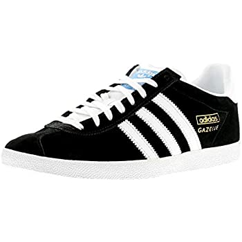 adidas Originals Gazelle Og Mens Other Leather Material Trainers BlkMet.GoldWhite