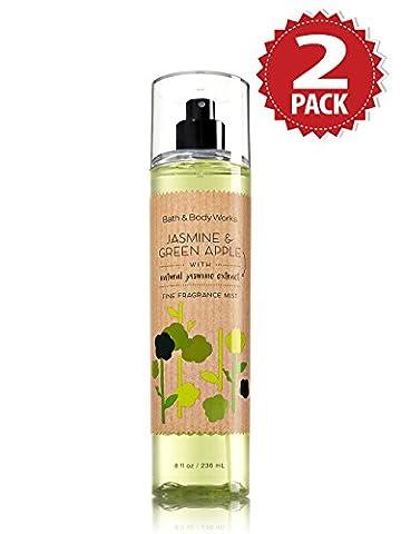 Brume Parfumée Bath & Body Works - Pack de 2 - Jasmine & Green Apple (2x236ml)