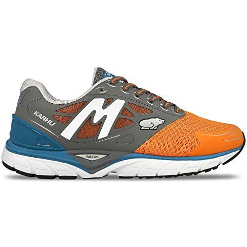 KARHU, Fast 6 MRE, Scarpe running uomo, Charcoal/MykonosBlue, 42
