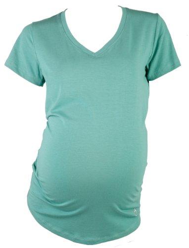 Mountain Mama Damen Tenaya Eco V-Ausschnitt Schwangerschafts-T-Shirt Alpine Teal