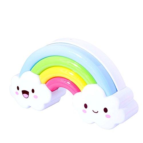 Vicloon Batterie Regenbogen -LED-Nachtlicht Lampe, Sprachsteuerung Nachtlicht,für Kinderzimmer/Flur/Schlafzimmer/Bad/Wohnzimmer