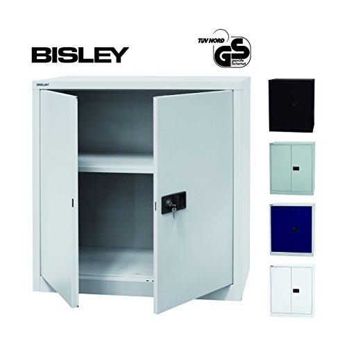 BISLEY Aktenschrank | Werkzeugschrank | Flügeltürenschrank aus Metall abschließbar inkl. Einlegeboden | Stahlschrank ist TüV / GS geprüft