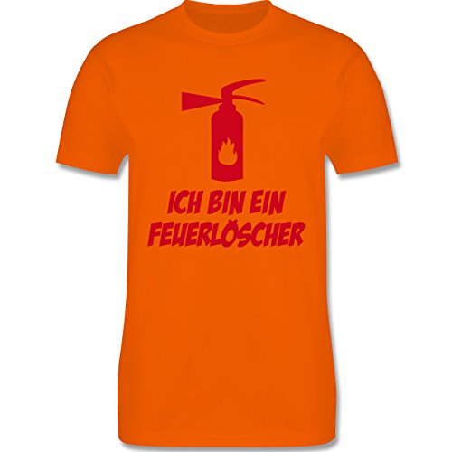 Feuerwehr - Ich bin ein Feuerlöscher - Herren Premium T-Shirt Orange