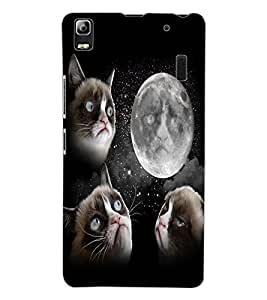 ColourCraft Funny Cat Design Back Case Cover for LENOVO K3 NOTE