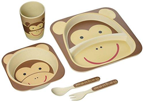 nandog-pet-gear-fibra-di-bambu-scimmia-bambini-piastra-set