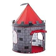Creare un posto speciale per i bambini. Può essere ovunque al coperto e all'aperto. Questa emozionante tenda castello ha abbastanza spazio per due bambini o più e per alcuni dei loro giocattoli..In resistente poliestere e telaio forte. Capace...